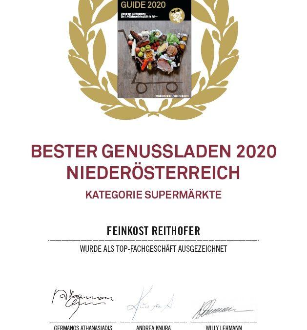 Auszeichnung als bester Genussladen 2020/NÖ
